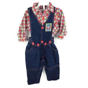 Vintage Bon Jour 12 month Overalls Outfit 12 month